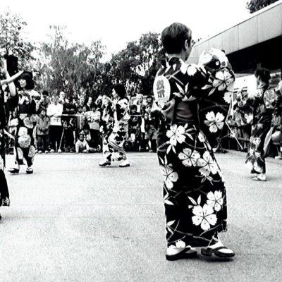 盆踊りグループによる発表 2002年