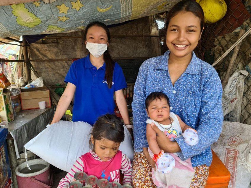ごみ山から生活の糧を得ているカンボジアの家族への支援